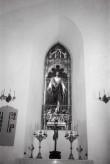 """Kolga-Jaani kirik, vitraaž """"Tulge minu juurde kõik"""". Foto: V. Ranniku 1965"""