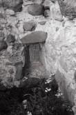 Laiuse linnuse varemed, laskeava idatornis. Foto: V. Ranniku 1965