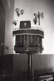 Kose kiriku kantsel. Foto: V. Ranniku 1965