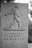 """A. Starkopfi perekonna kalmu hauamonument """"Külvaja"""" Hageri kalmistul. Foto: V. Ranniku 1972"""