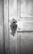 Kodavere kiriku ukse lukusilt. Foto:V. Ranniku 1972